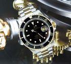Steel 18ct Gold Rolex Submariner Black Kit Rolex ref 16613 with Rolex paper