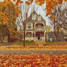 Autumn and Halloween Pinterest Inspiration, Autumn Cozy, Autumn Fall, Winter, Autumn Aesthetic, Fall Pictures, To Infinity And Beyond, Victorian Homes, Victorian Farmhouse