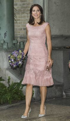 Denmark's Crown Princess Mary kept her fashion reputation up to scratch when she stepped out in style