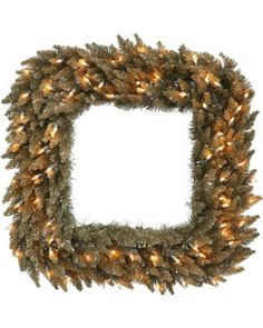 Vickerman 30 inch Antique Champagne Fir Sq Wreath Size: 30 in. Battery Operated Christmas Wreath, Christmas Home, Merry Christmas, Pre Lit Wreath, Square Wreath, Champagne, Artificial Christmas Wreaths, Different Colors, Things To Come