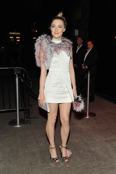 Once the big event is over, hems go higher, thigh-high boots come out, and gowns get swapped for pants | Saoirse Ronan
