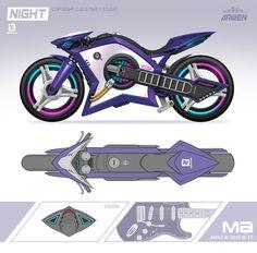 Futuristic Motorcycle, Futuristic Cars, Futuristic Vehicles, Concept Ships, Concept Cars, Character Concept, Character Design, Weapon Concept Art, Cyberpunk Art
