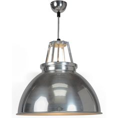 Tip #19 | Lighting | Lighting is perhaps one of the most important and yet often overlooked interior design tools. Updating pendant lights and lamps can instantly make a space look like it's been completely redecorated. And it's one of the easiest ways to inject an element of industrial chic into your home | The Titan 3 pendant light from Barker & Stonehouse is based on original 1940s lighting commonly found in factories. It has a beautiful polished aluminium shade.