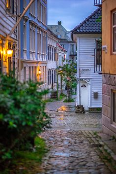 Streets of Bergen, Norway / World Beautiful City, Beautiful Places, Bali House, Stone Street, Norway Travel, City Aesthetic, Trip Planning, Places To Travel, The Good Place