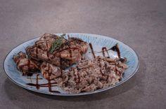 ΠΑΪΔΑΚΙΑ ΚΟΤΟΠΟΥΛΟΥ ΜΕ ΣΑΛΤΣΑ ΒΒQ & ΡΥΖΙ ΜΕ ΜΑΝΙΤΑΡΙΑ - ΣΕΦ ΣΤΟΝ ΑΕΡΑ Recipies, Pork, Beef, Chicken, Cooking, Recipes, Kale Stir Fry, Meat, Kitchen
