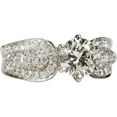 Diamond Engagement Ring 14k Gold VVS2 2.60ctw Shop at www.rubylane.com for fine #wedding jewelry. #rubylane