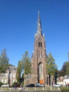 De kerk in de oktoberzon aan de Herengracht