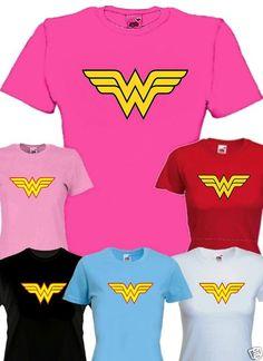 WONDER WOMAN super hero Ladyfit Tshirt | eBay £10