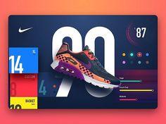 Nike store by Balraj Chana 👌🙌🏻👍 . . .  #ui #dribbble #ux #design #webdesign…
