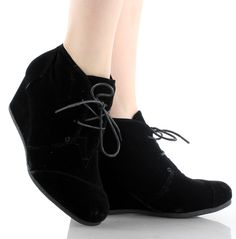 Patricia-01 Wedge Lace Up Ankle Boots – DWDShoes