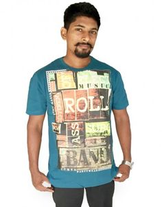 9c4c0b6dc0db Buy Printed Men s Round Neck Blue T-Shirt at low prices in India only on