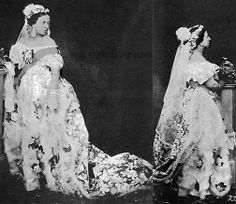 In 1840, monarch of the United Kingdom of Great Britain and Ireland. Queen Victoria wore a white gown to incorporate some lace she prized, she shocked more than one for the color of her choice. The designer William Dyce added some  orange blossom flowers to give it some color. The wedding gown color of choice of the Queen marked history as becoming the color to be used until present