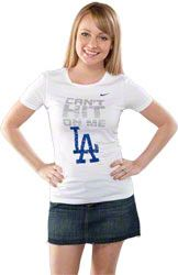 Los Angeles Dodgers Women's White Can't Hit On Me Tee $21.99 http://www.fansedge.com/Los-Angeles-Dodgers-Womens-White-Cant-Hit-On-Me-Tee-_898762464_PD.html?social=pinterest_pfid63-13767