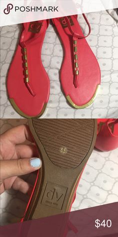 Dolce Vita sandals Pink Dolce vita sandals! Never used before! DV by Dolce Vita Shoes Sandals