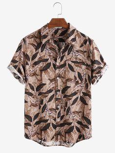 1950s Shirts, Vintage Shirts, Vintage Men, Mens Printed Shirts, Printed Shorts, Casual Shirts, Casual Outfits, Plus Size Pants, Shorts With Pockets