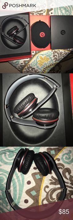 Solo beats earphones black wired 🎧 pre-loved used only once beats solo earphones black!! Excellent condition. Awesome sound 🔊 genuine solo Other