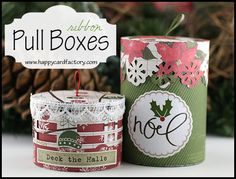 Ribbon Handle Boxes - Happy Card Factory  #LetteringDelights