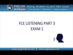 LISTENING - FCE CAMBIDGE FIRST CERTIFICATE- WORK UNIT 6 Cambridge Test, Cambridge English, English Exam, Learn English, Ielts, Teaching English, Student, The Unit, Reading