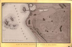 Sutro Heights, Cliff House and Seal Rocks Map, pre 1896