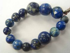 Lapis Lazuli Smooth Round (Quality C) / 4 to 7 mm / 7.3 cm / 17.65 carats / 15 pieces / ST-2624 by beadsofgemstone on Etsy