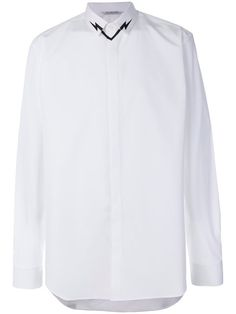 NEIL BARRETT thunderbolt collar shirt. #neilbarrett #cloth #