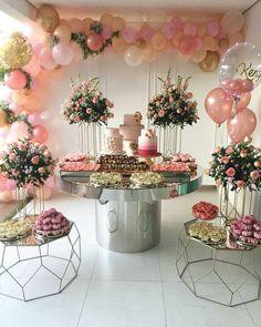 Birthday ideas romantic bridal shower 51 ideas for 2019 Bridal Shower Decorations, Birthday Party Decorations, Birthday Parties, Wedding Decorations, 18 Birthday, Party Themes, Birthday Ideas, Pink Party Decorations, Bridal Shower Party