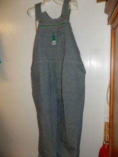 Vintage MENS LIBERTY RAILROAD ENGINEER STRIPED OVERALLS SIZE Size 46/34 46X34  #Liberty #Overalls