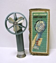 Vintage Battery Operated Handheld Fan in by WallflowerAntiques