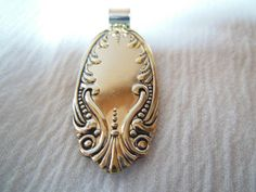 Mirror Mirror  Antique Spoon Pendant by WoodsEdgeJewelry on Etsy
