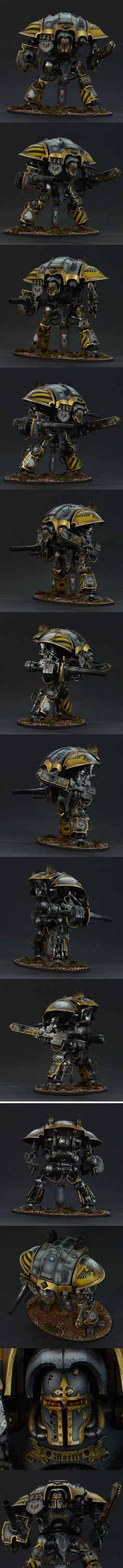 Space Wolves Imperial Knight, Questoris chassi, Paladin. House Cadmus.