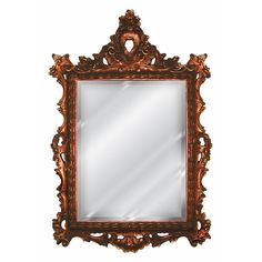 French Inspired Frame Wall Mirror Antique Reproduction, Baroque Color Finish