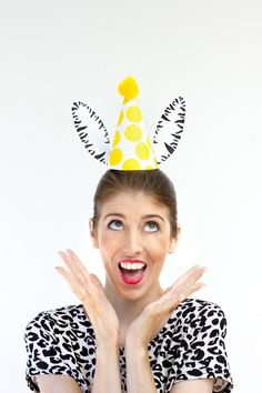 DIY Party Animal Topper - cute idea for parents who don't want to entirely dress up!