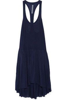 Raquel Allegra Pleated cotton-jersey and voile dress - love!