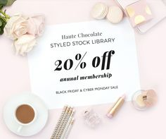 Annual Sale Ends Monday! Give yourself the gift of time with these stylish and affordable stock photos for female entrepreneurs, bloggers, and creative professionals. This 20% off sale only happens once a year - Black Friday through Cyber Monday. Sale ends on Monday, November 28th at 11pm EST. {affiliate link}