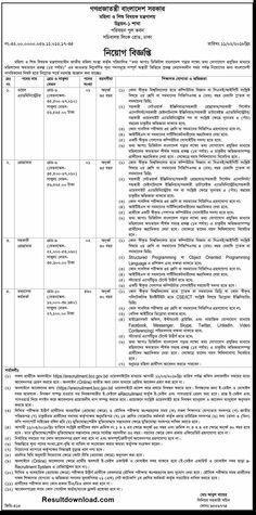 Mohila O Shishu Montronaloy MOWCA Job Circular 2018....MOWCA Ministry of Women and Children Affairs Job Circular 2018....Job result..MOWCA Application Form...