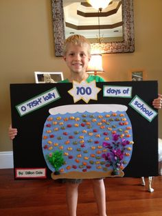 10 easy poster ideas to celebrate your child's first 100 days of school - 100 days 8 Best Picture For craft projects For Your Taste You are looking for something, and it i - 100 Day Project Ideas, 100 Day Of School Project, School Projects, Projects For Kids, Kindergarten Posters, Kindergarten Projects, School Posters, Classroom Projects, 100th Day Of School Crafts