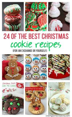 The best Christmas cookie recipes! Great for cookie exchanges or holiday parties these Christmas cookies do not disappoint! The best Christmas cookie recipes! Great for cookie exchanges or holiday parties these Christmas cookies do not disappoint! Holiday Cookies, Holiday Baking, Christmas Desserts, Christmas Treats, Holiday Treats, Christmas Fun, Holiday Recipes, Christmas Recipes, Holiday Parties