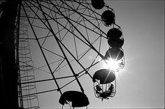 abandoned amusement park, Palanga, Lithuania