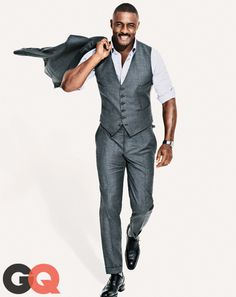 Idris elba gq magazine october 2013 fall style 07 This has got to be the perfect color suit, slate