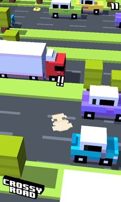 Poor dog i was playing crossey road and then i got ran over by a cemi