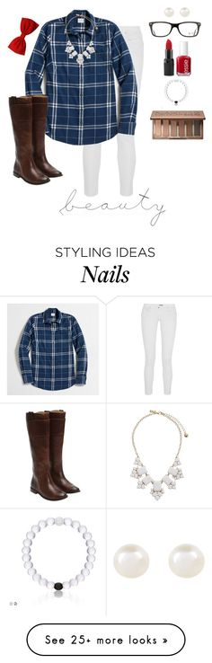 """""""Am I in love with you or am I in love with the feeling?"""" by avamariebrown on Polyvore featuring Chan Luu, J.Crew, Essie, Frye, Kate Spade, Accessorize, Urban Decay, Barry M and Ray-Ban"""