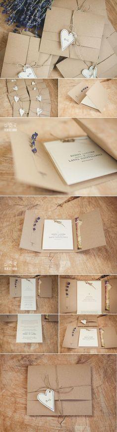 Deze trouwkaart mocht ik ontwerpen voor de bruiloft van Sjoerd en Laura. Rustiek, landelijk, lavendel:...