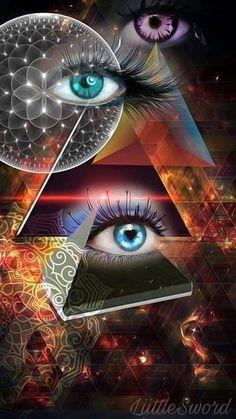 A sophisticated and in-depth Free Tarot site incorporating many subjects related to Tarot, Astrology, Divin… Dark Fantasy Art, Arte Pink Floyd, Psychadelic Art, Eyes Artwork, Meditation Art, Free Tarot, Visionary Art, Eye Art, Galaxy Wallpaper