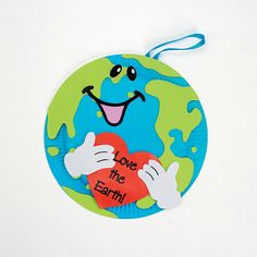"""""""Love The Earth"""" Paper Plate Decorations Craft Kit - Oriental Trading Turn a simple paper plate into a fun foam Earth Day decoration!"""