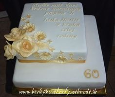 Bielo-zlatá torta