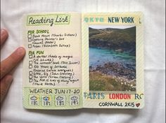 mindpalacestudy:  summer reading list + a landscape from my holiday to cornwall{art/aesthetic blog}
