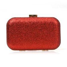 BMC Iridescent Ruby Red Glitter Covered Fabric Hard Case Alloy Chain Strap Fashion Handbag Evening Clutch b.m.c http://www.amazon.com/dp/B00KQ4SGI8/ref=cm_sw_r_pi_dp_KmTbxb09HKZGZ