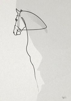 Art OnelineHorse 2803 Kunstdruck My Teen Is A Runaway. Horse Drawings, Art Drawings, Drawing Art, Horse Illustration, Minimalist Drawing, Desenho Tattoo, Horse Sculpture, Equine Art, Metal Art