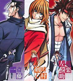 Tags: Anime, Rurouni Kenshin, Himura Kenshin, Sagara Sanosuke, Saitou Hajime (Rurouni Kenshin)