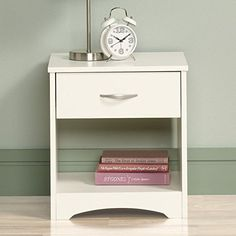 Sauder Beginnings Night Stand, Soft White